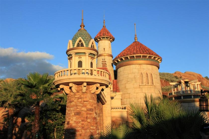 Ariel's castle at sunset