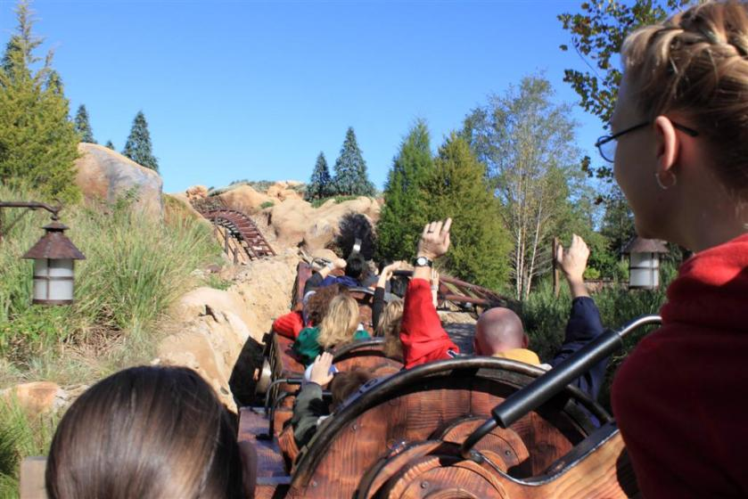 From the new Mine train ride
