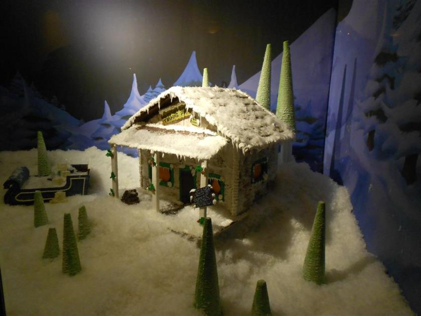 Gingerbread Frozen Outpost at Yacht Club
